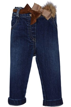 Lapin House Belted skinny jeans
