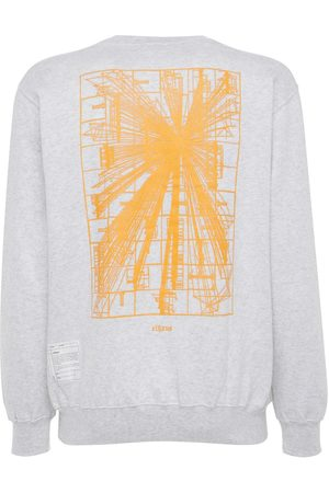 ELHAUS Flare Printed Cotton Blend Sweatshirt