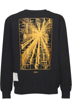 ELHAUS Flare Printed Cotton Blend Sweatshirt