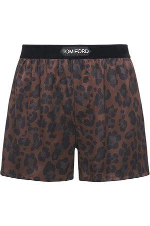 Tom Ford Leopard Print Stretch Silk Boxer Briefs