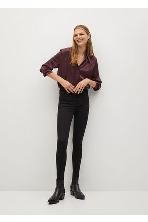 MANGO High-waist cotton-blend jeggings