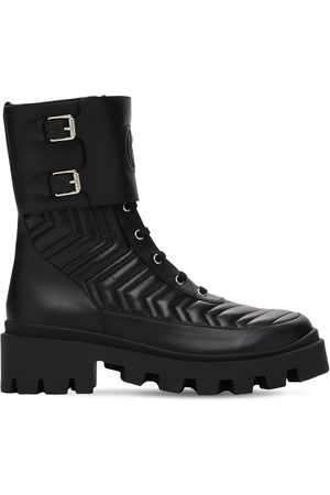 Gucci 35mm Fraces Quilted Leather Combat Boots