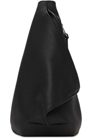 Loewe Men Rucksacks - Anton Pebbled Small Leather Backpack