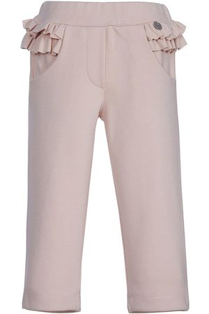 Lapin House Chinos - Ruffle trim straight leg trousers