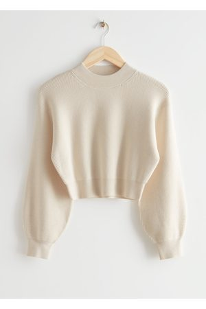 & OTHER STORIES Women Sweaters - Cropped Bubble Sleeve Knit Sweater