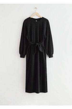 & OTHER STORIES Women Midi Dresses - Relaxed Belted Cotton Midi Dress