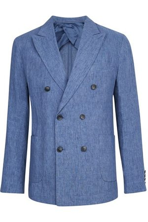 Frescobol Carioca Men Blazers - Linen blazer