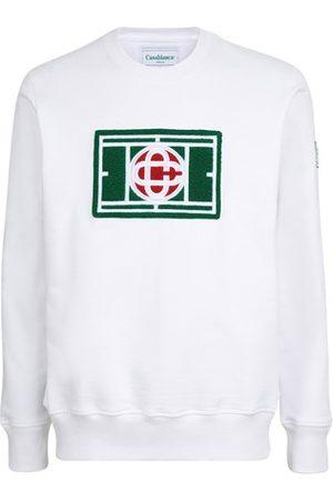 Casablanca Men Sweatshirts - Tennis Court Chenille sweatshirt