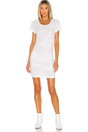 Bobi Draped Modal Jersey Dress in .
