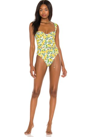 WeWoreWhat Women Belts - Vintage Danielle One Piece With Gold Chain Belt in Yellow.