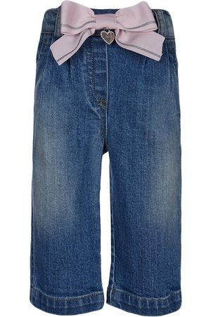 Lapin House Bow front straight leg jeans