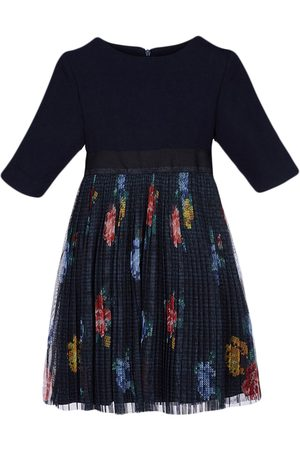 Lapin House Floral-print tulle midi dress