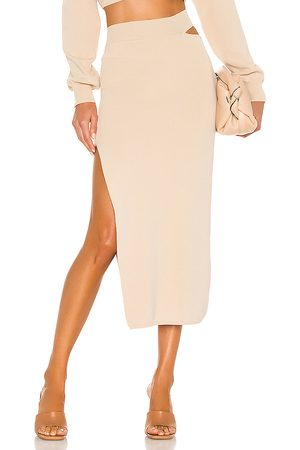 Michael Costello X REVOLVE Cut Out Knit Midi Skirt in .
