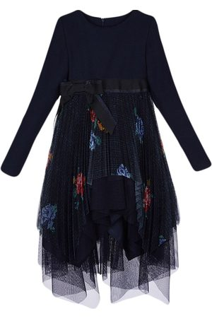 Lapin House Girls Casual Dresses - Floral-print tulle dress