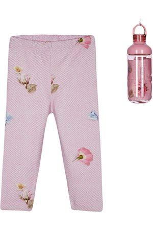 Lapin House Baby Leggings - Floral chevron print leggings