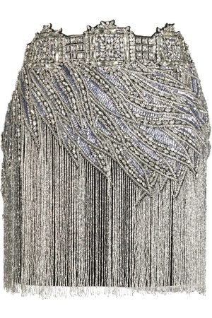 AMEN Crystal-embellished mini skirt