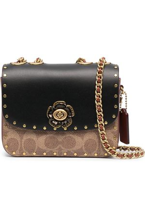 Coach Madison logo-print shoulder bag