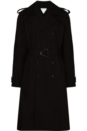 Bottega Veneta Men Trench Coats - Double-breasted belted trench coat