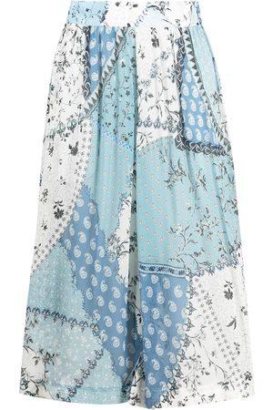 Etro Patchwork print midi skirt