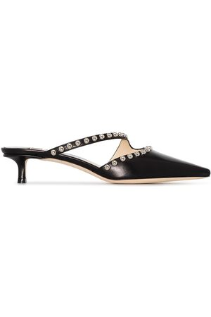 Jimmy Choo Ros 35mm stud-embellished leather mules