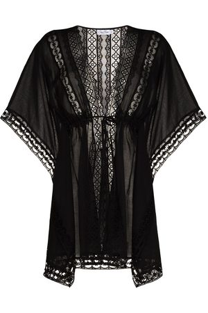CHARO RUIZ IBIZA Women Beachwear - Embroidered detail tied waist cover-up
