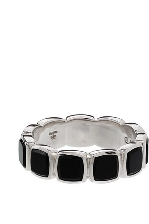 Tom Wood Onyx embellished band ring
