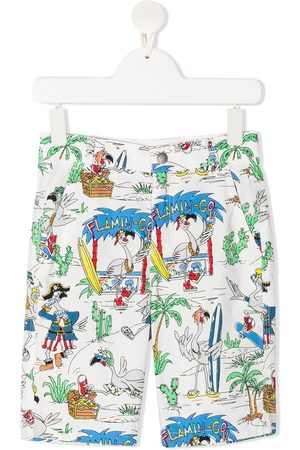 Stella McCartney Flamingo Land print shorts