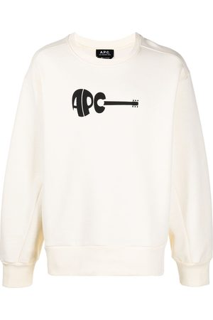 A.P.C. Logo-print crew-neck sweatshirt