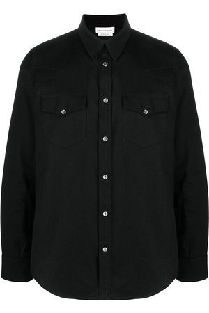 Alexander McQueen Selvedge-tape denim shirt
