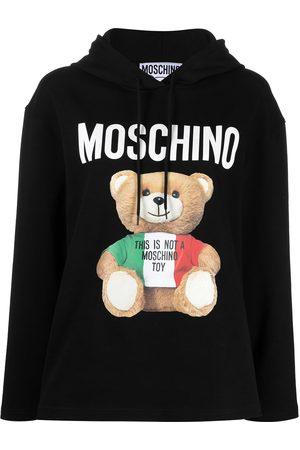 Moschino Teddy logo-print hoodie
