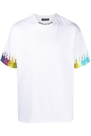 Vision Of Super Graphic-print gradient short-sleeved t-shirt