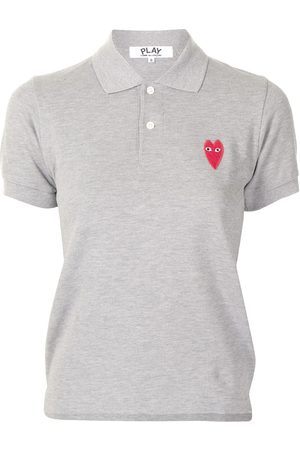 Comme des Garçons Embroidered-logo short-sleeved polo shirt - Grey