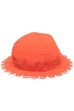 Stella McCartney Scalloped brim sun hat