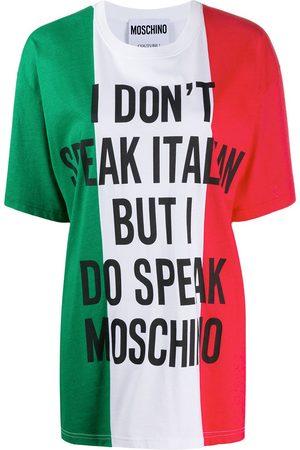 Moschino Women T-shirts - Italian flag print oversized T-shirt