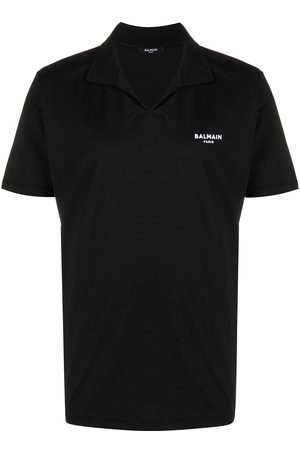 Balmain Flocked logo polo shirt