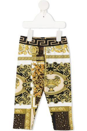 VERSACE Barocco-print cotton trousers