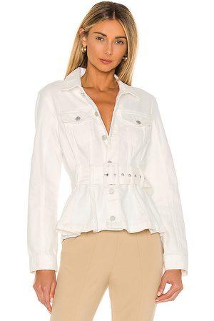 BLANK NYC X REVOLVE Belted Denim Jacket in Head in White.
