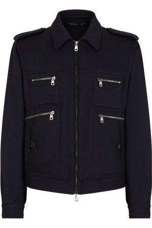 Dolce & Gabbana Zip-pocketed shirt jacket