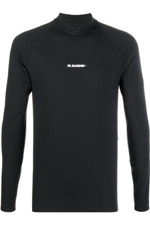 Jil Sander Long-sleeved logo T-shirt