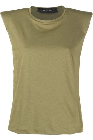 FEDERICA TOSI Padded-shoulder sleeveless T-shirt