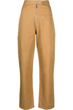 Isabel Marant Women Straight Leg Pants - High-waisted straight-leg trousers