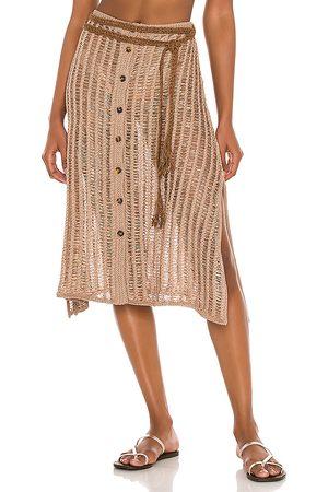 Solid Vivienne Skirt in Brown.