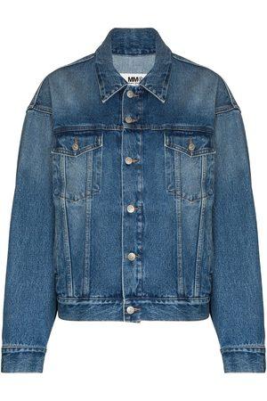 MM6 MAISON MARGIELA Washed-effect button-up denim jacket