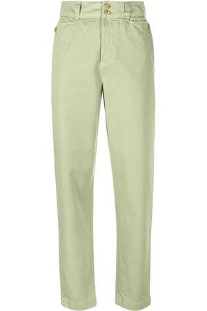 Etro Women Straight Leg Pants - High-waisted straight-leg trousers