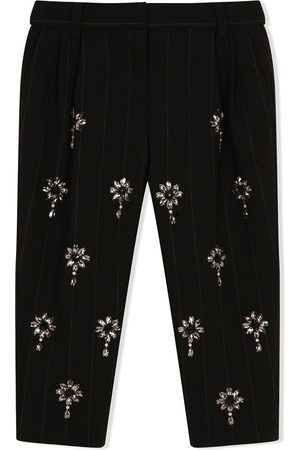 Dolce & Gabbana Crystal embellished pinstripe trousers