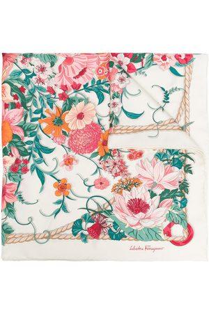 Salvatore Ferragamo Floral print scarf - Neutrals