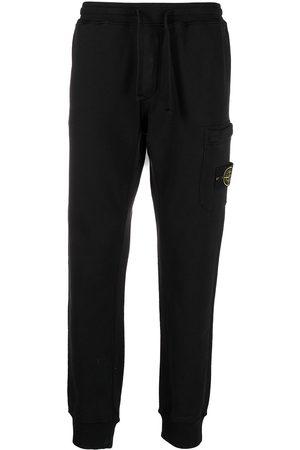 Stone Island Men Sweatpants - Side logo-patch track pants