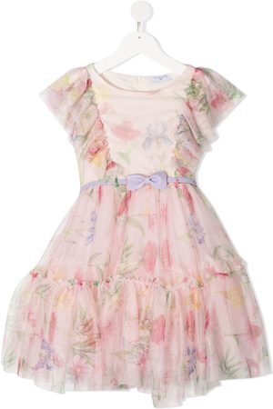 MONNALISA Floral print ruffle detail dress