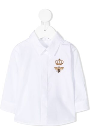 Dolce & Gabbana Bee crown embroidered shirt