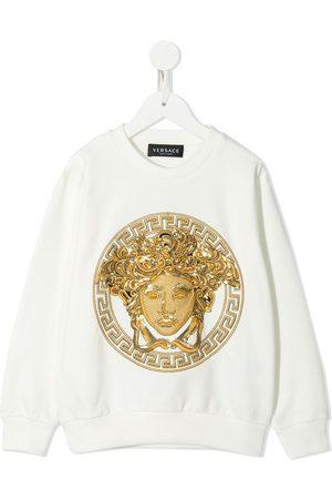 VERSACE Girls Hoodies - Medusa embroidered sweatshirt